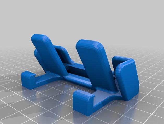 车载式iPhone 5c手机座 3D打印模型渲染图
