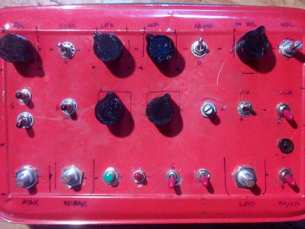 扩音器音量控制按钮  3D打印模型渲染图