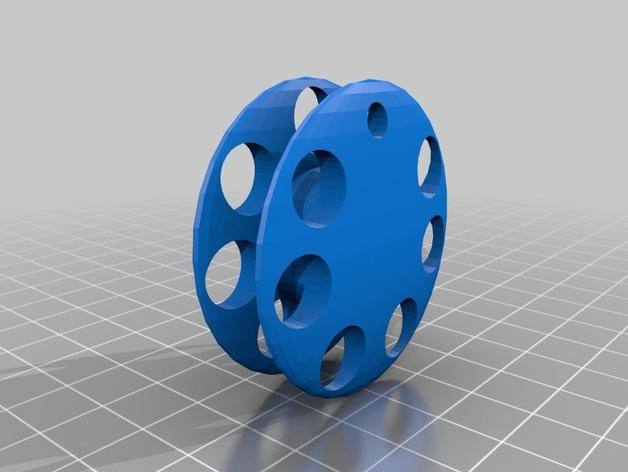手摇纺车 3D打印模型渲染图