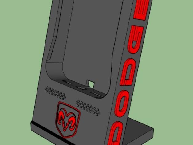 Dodge道奇手机充电座 3D打印模型渲染图