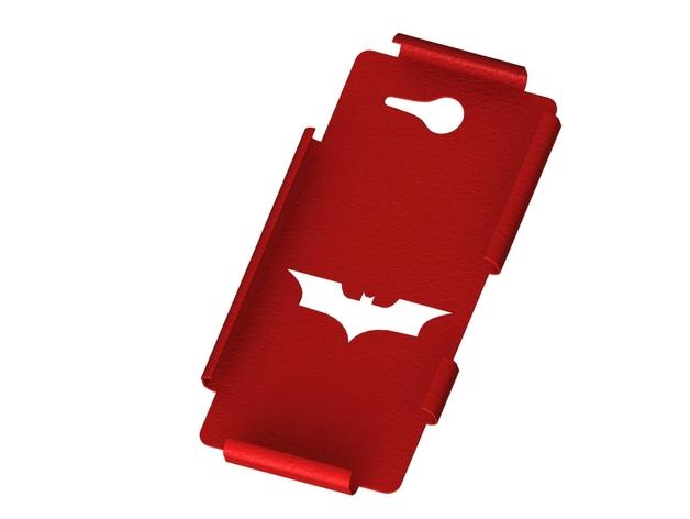 蝙蝠侠索尼Xperia M2手机外壳 3D打印模型渲染图