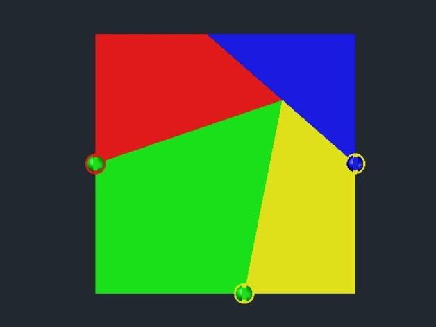三角板 七巧板 3D打印模型渲染图