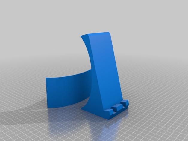 Nexus 5手机无线充电座 3D打印模型渲染图