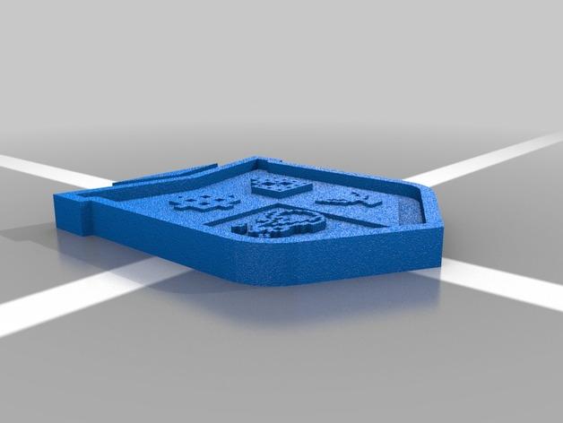 电子游戏徽章 3D打印模型渲染图