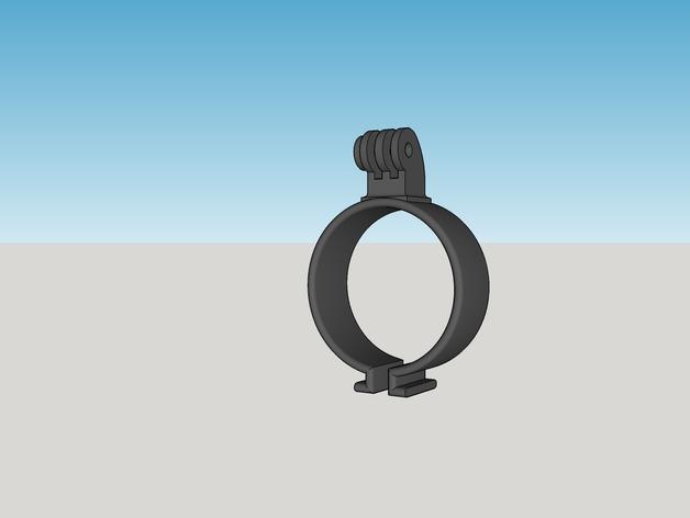 GoPro相机固定座 3D打印模型渲染图