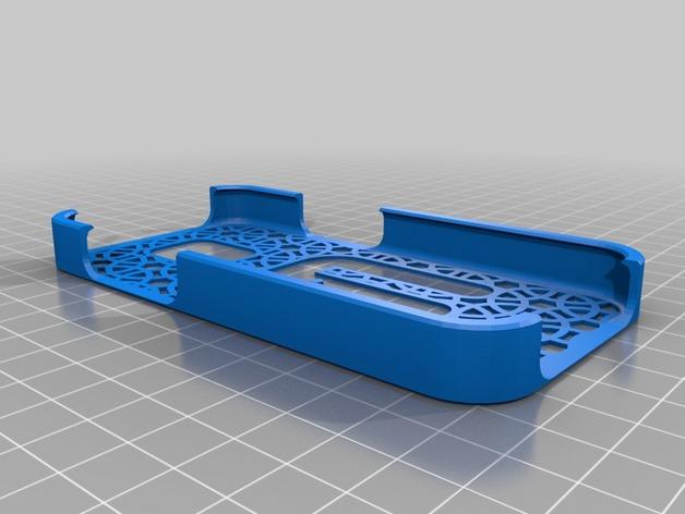 三星S4手机保护套 3D打印模型渲染图