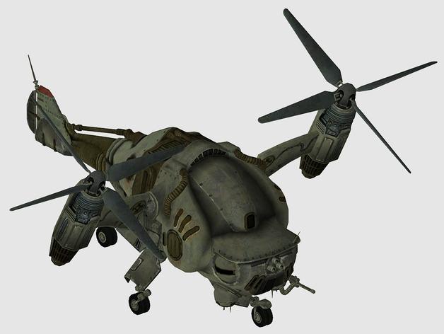 Verti Bird轰炸机 3D打印模型渲染图