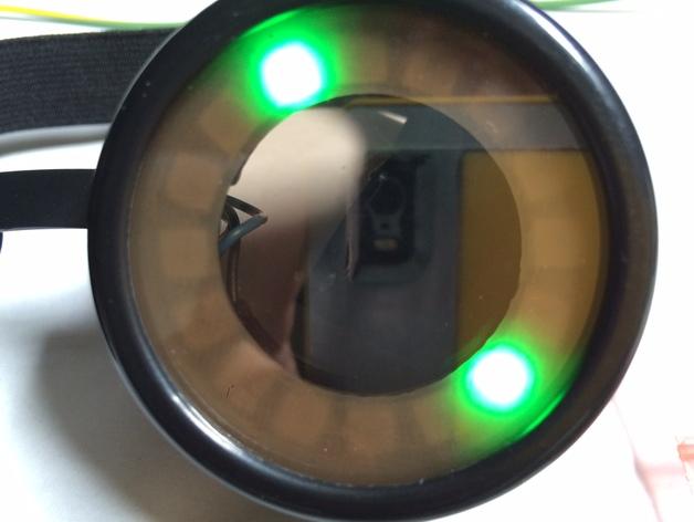 蒸汽朋克眼镜垫圈 3D打印模型渲染图