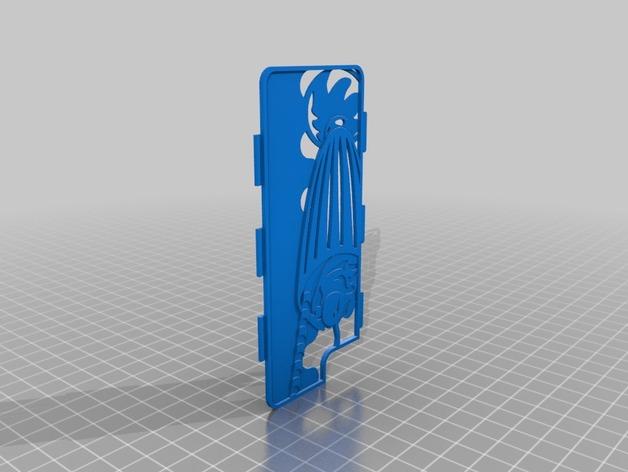 奶昔图案手机保护外壳 3D打印模型渲染图