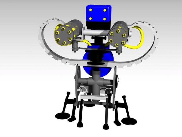 边防要塞 机器人 哨兵 3D打印模型渲染图