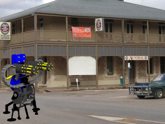 边防要塞 机器人 哨兵