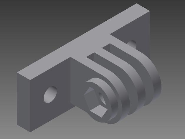 连拍相机座架1号 3D打印模型渲染图
