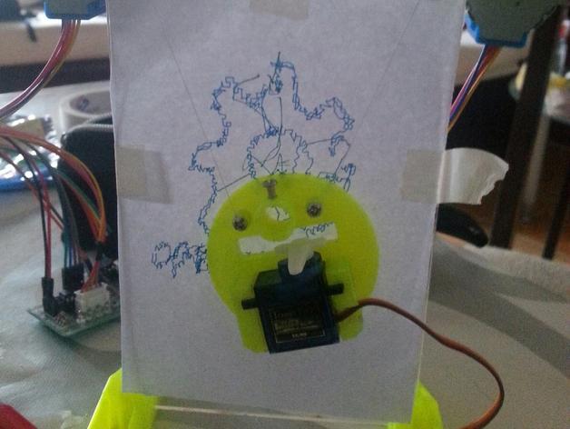 小绘图机器人(绘图仪) 3D打印模型渲染图