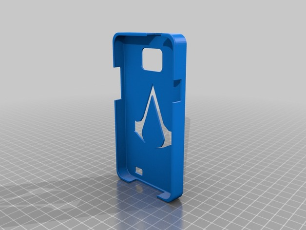 三星Galaxy SII:暗杀者信条手机套 3D打印模型渲染图