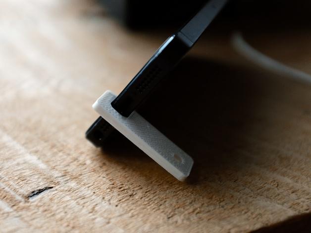iPhone 5/5s 钥匙链站架 3D打印模型渲染图