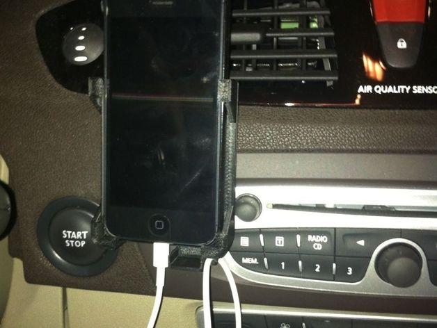 iPhone 5 and 4车用支架 3D打印模型渲染图