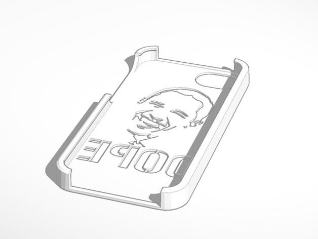 奥巴马头像漏字板 iPhone5手机外壳 3D打印模型渲染图