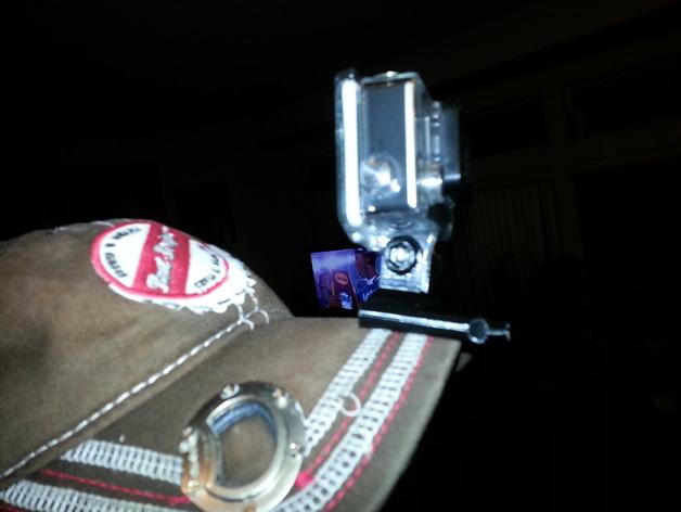 Go Pro相机支架 棒球帽 3D打印模型渲染图