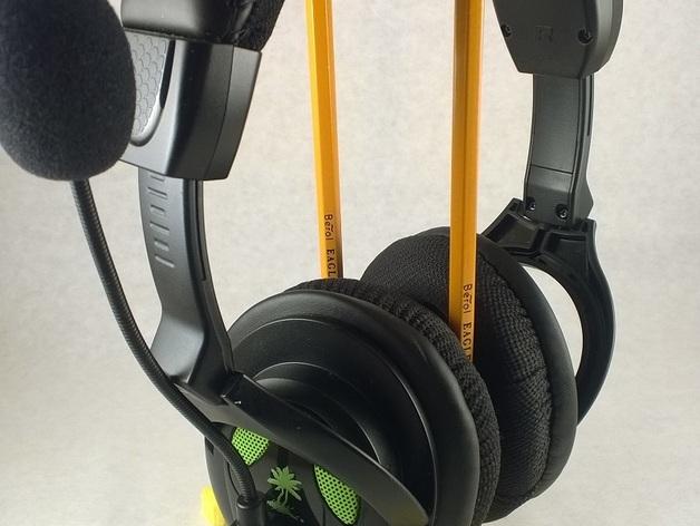 头戴式耳机支架 3D打印模型渲染图