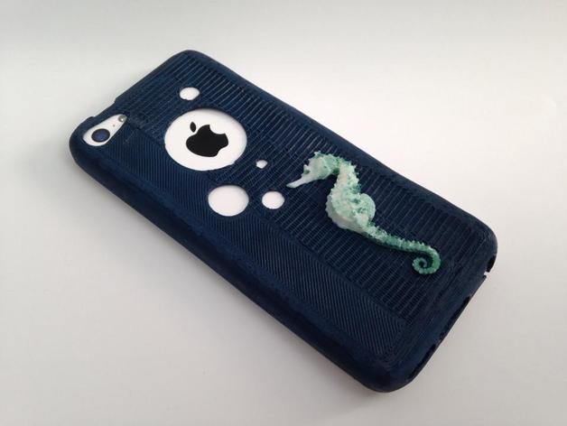 改进版 iPhone 5c手机套 3D打印模型渲染图