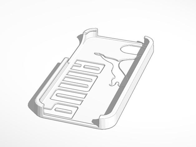 彪马Iphone 5 手机套 3D打印模型渲染图