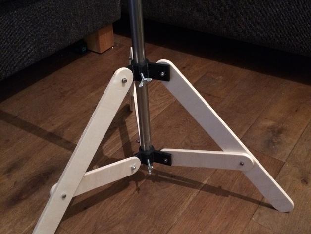 可折叠式三脚架 3D打印模型渲染图
