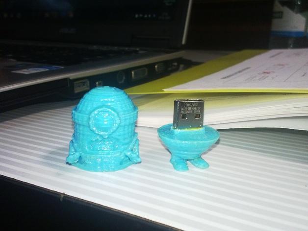 小型USB密钥 3D打印模型渲染图