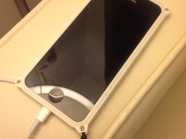 带孔iPhone 5/5s手机套 3D打印模型渲染图