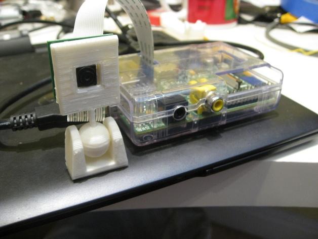 树莓派照相机支架 3D打印模型渲染图