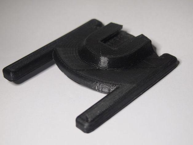 相机闪光灯站架(含三脚架螺纹) 3D打印模型渲染图