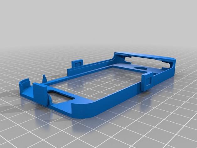 Iphone4 替换式手机套 3D打印模型渲染图