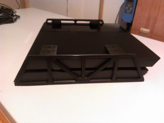 PS4悬空站架 3D打印模型渲染图