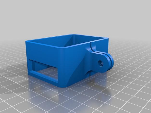 极限运动专用相机Hero 2麦克风框架 3D打印模型渲染图