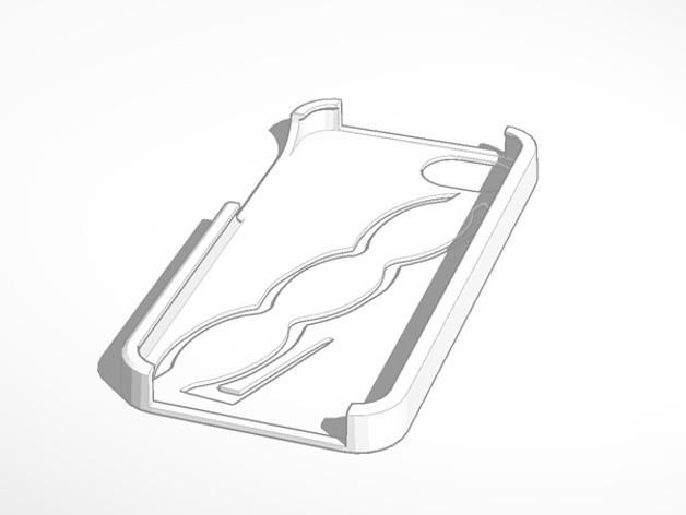 Iphone 5s 菲亚特500手机套 3D打印模型渲染图