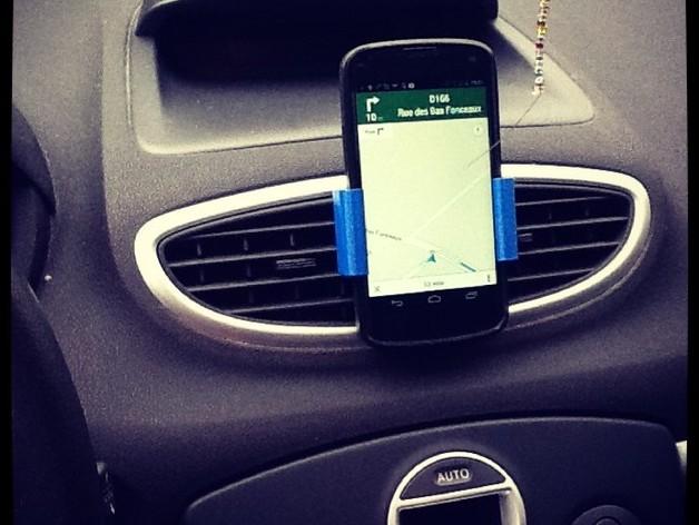 Nexus 4(和bumper) 车用支架 3D打印模型渲染图