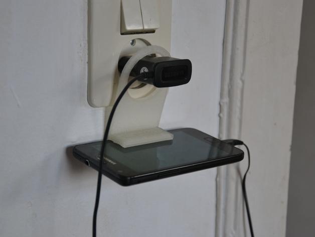 墙体插座手机支架
