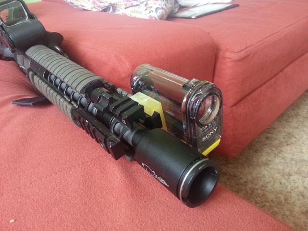 Sony hdr-as15 相机框  3D打印模型渲染图