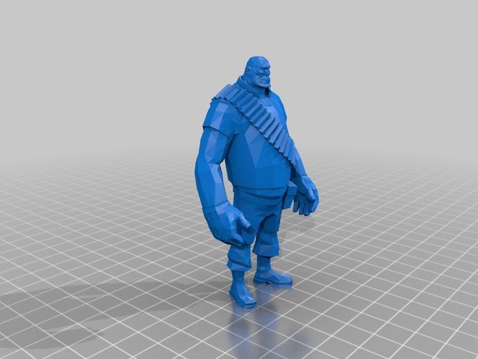 边防要塞  Heavy胖子 人物模型
