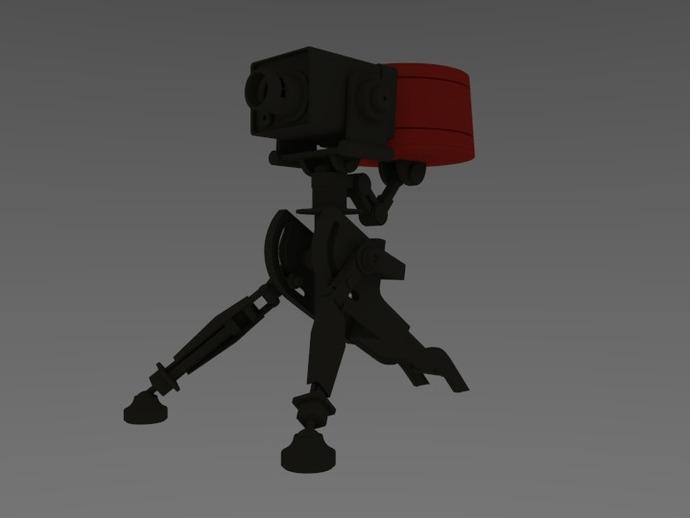 边防要塞2 重炮口径三角自动步枪 3D打印模型渲染图