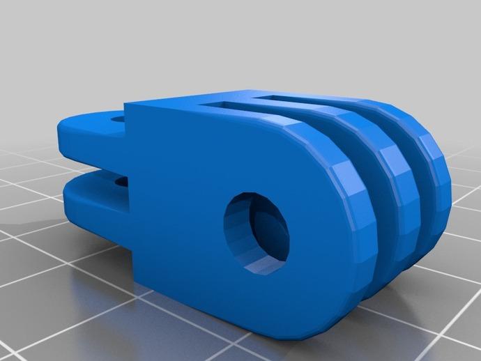 Go Pro 相机支架连接器 3D打印模型渲染图