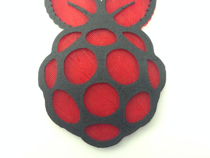 Raspberry Pi 树莓派标志 3D打印模型渲染图