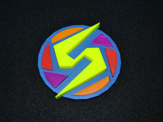 Super Metroid 超级银河战士标志 3D打印模型渲染图