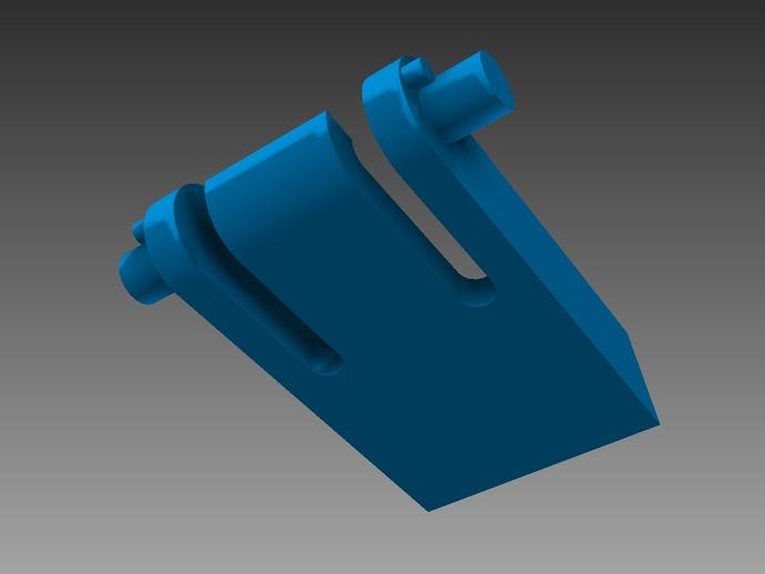 键盘支撑器 支撑脚 3D打印模型渲染图