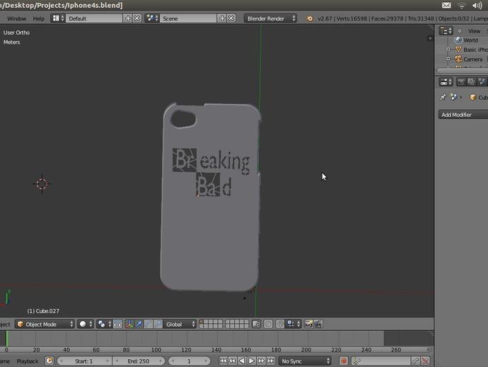 IPhone 4S手机外壳 3D打印模型渲染图