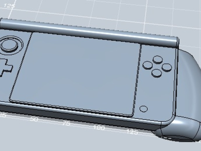 任天堂游戏机手柄 3D打印模型渲染图