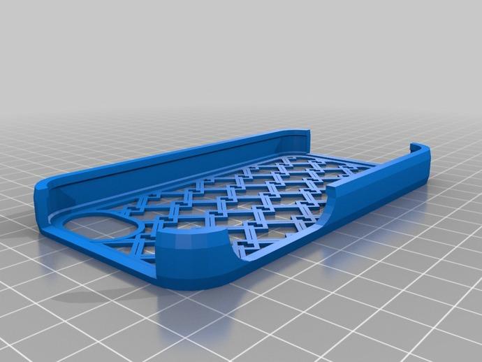 网格iPhone手机外壳 3D打印模型渲染图