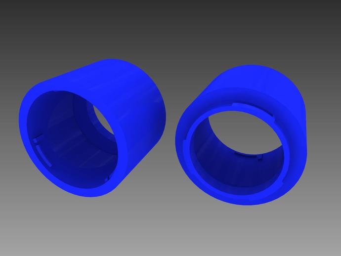 Canon EF相机镜头延伸管 3D打印模型渲染图