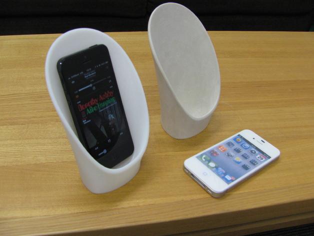 手机扩音器 3D打印模型渲染图