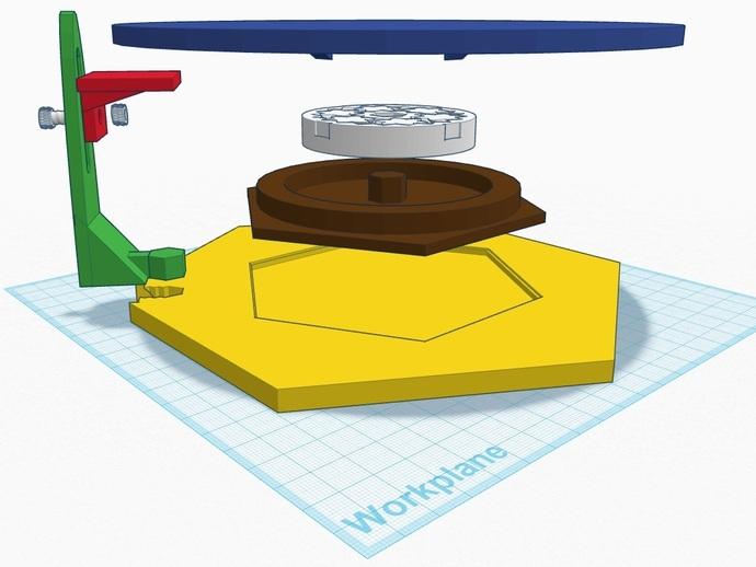 扫描转盘 3D打印模型渲染图