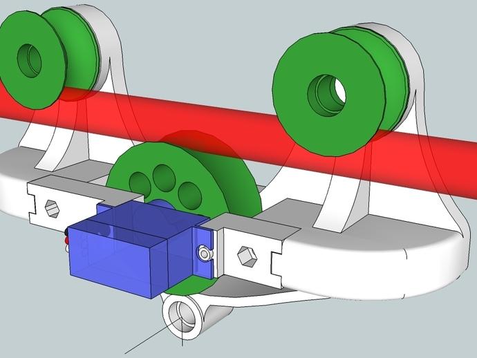 相机移动摄影车 3D打印模型渲染图